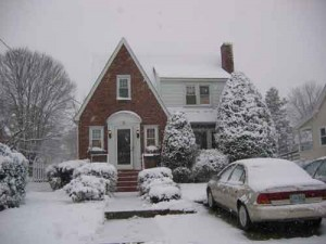 Our house, the last winter we lived in Baltimore (2009)