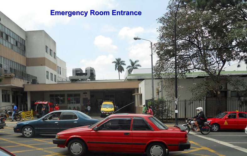 The Emergency Room Entrance at San Juan de Dios Hospital in San Jose