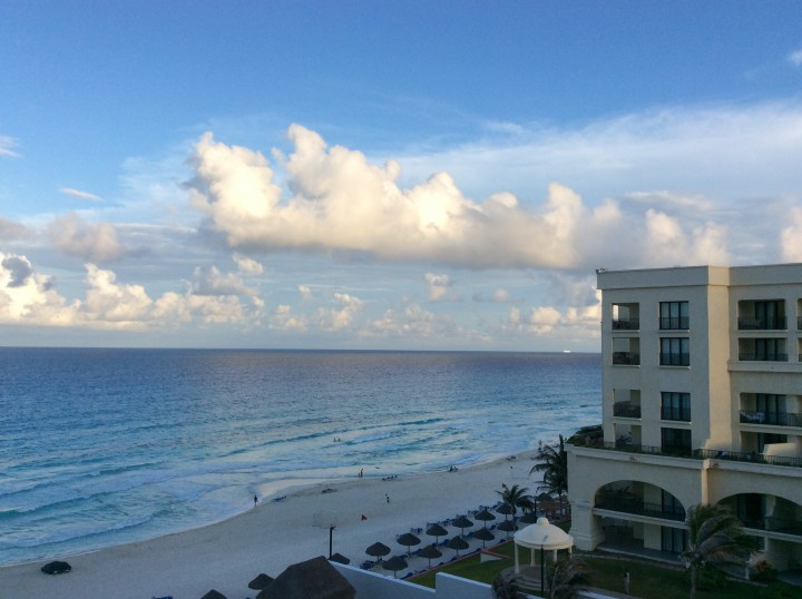 The view from our room at the JW Marriott in Cancún