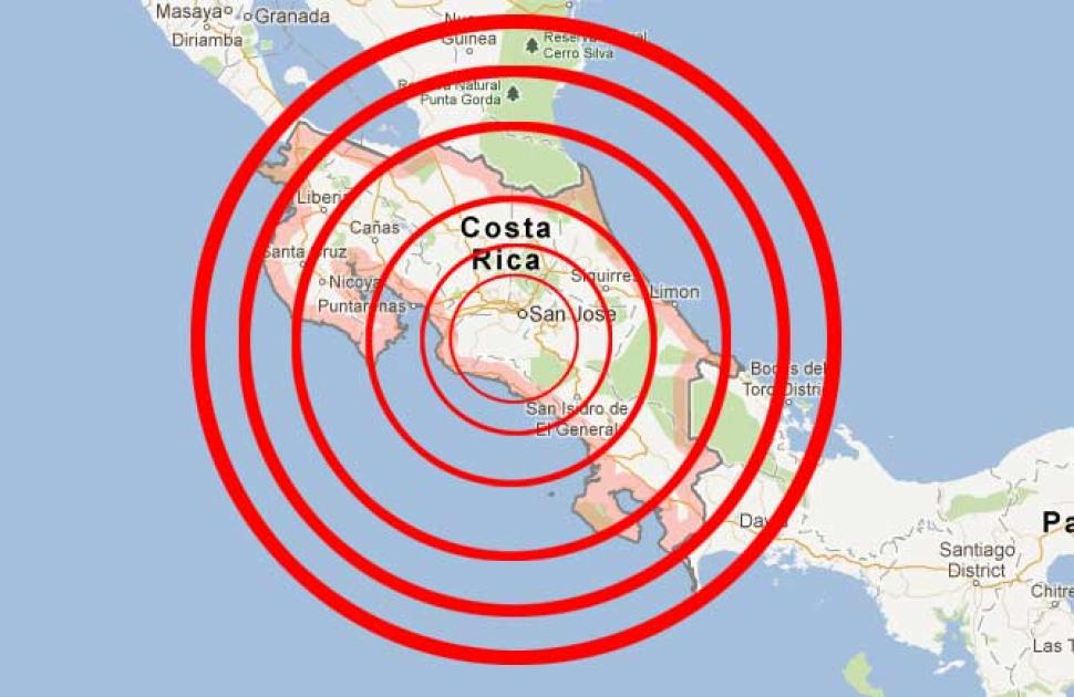 Significant Earthquakes in Costa Rica Over the Last 100 Years ...