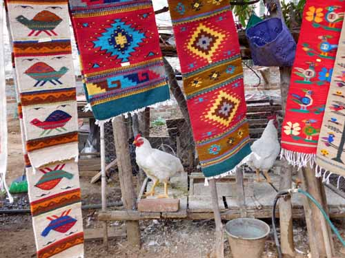 Mexico-Visiting a weaver in San Miguel del Valle, Oaxaca, as part of an En Via tour.