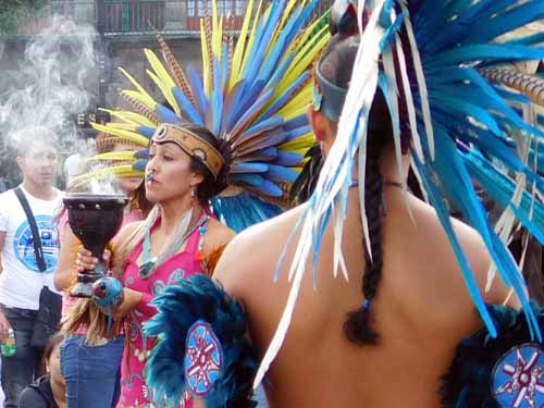 Mexico - An indigenous healing dance in the Zocolo